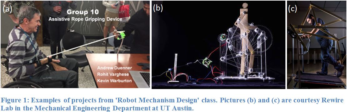Example of Projects from 'Robot Mechanism Design' class